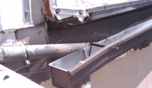 Commercial Storm Damage is repaired at the Kansas city airport